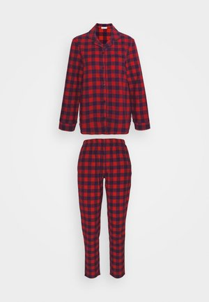 SHIRT AND TROUSER SET - Pyjama set - black/red