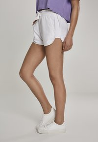 Urban Classics - LADIES TOWEL HOT PANTS - Tracksuit bottoms - white - 3