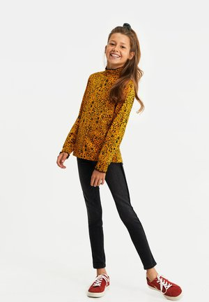 MET BLOEMENDESSIN - Long sleeved top - ochre yellow