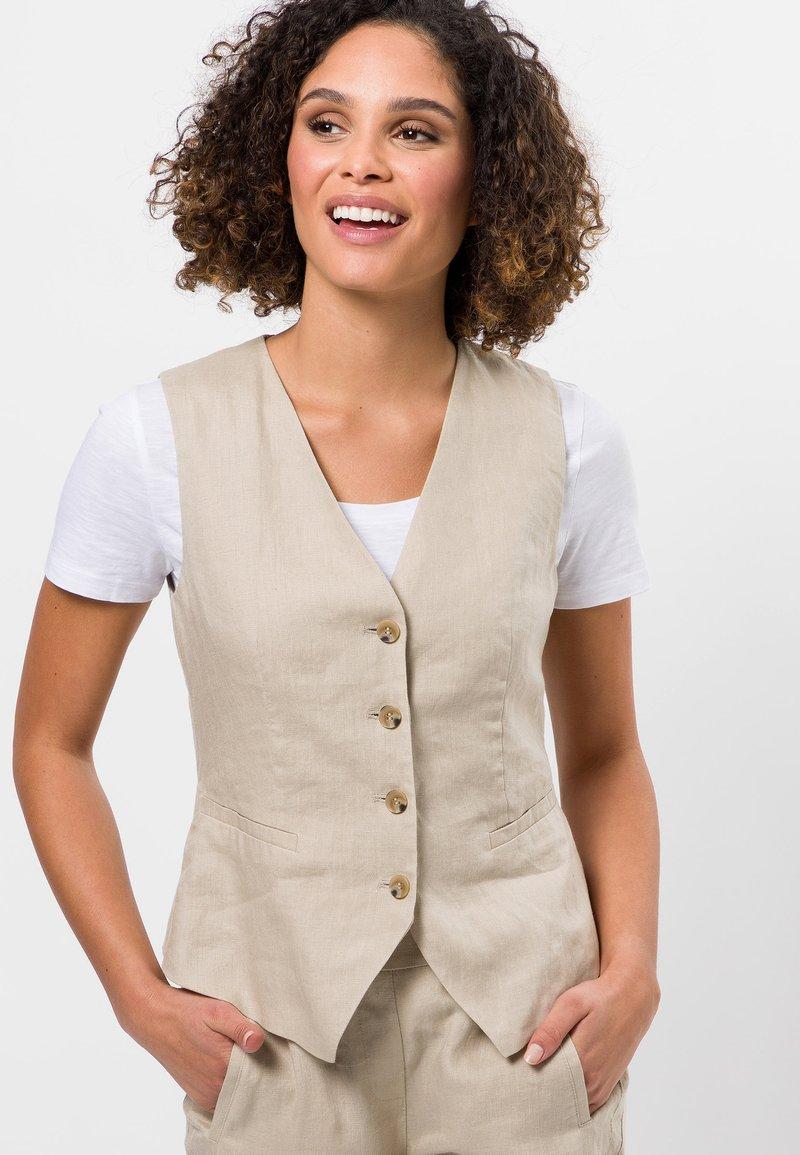 zero - Waistcoat - raw cotton