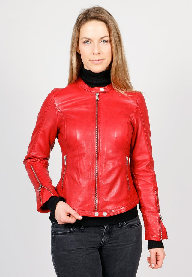 TULA - Leather jacket - chilly red