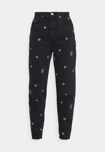 MOM TAPERED - Jeans baggy - denim black
