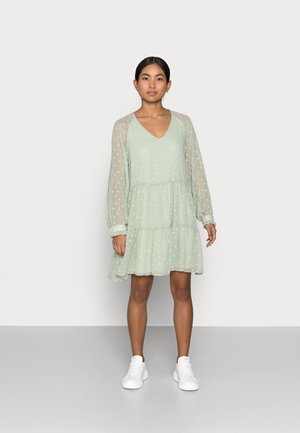 PCNUTSI DRESS - Cocktail dress / Party dress - desert sage