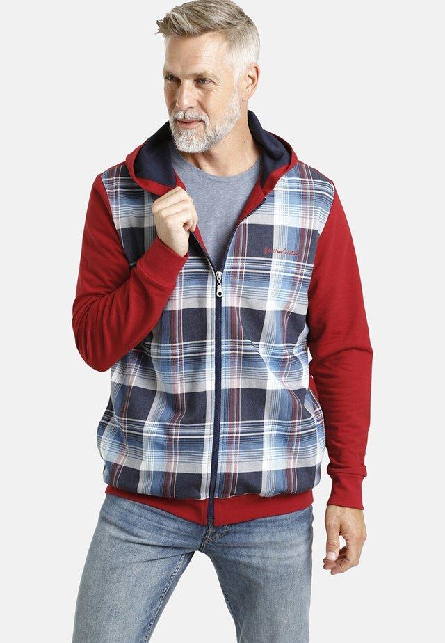 HELMER - veste en sweat zippée - rot