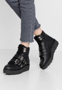 Shoe The Bear - BEX BUCKLE  - Cowboy/biker ankle boot - black - 0