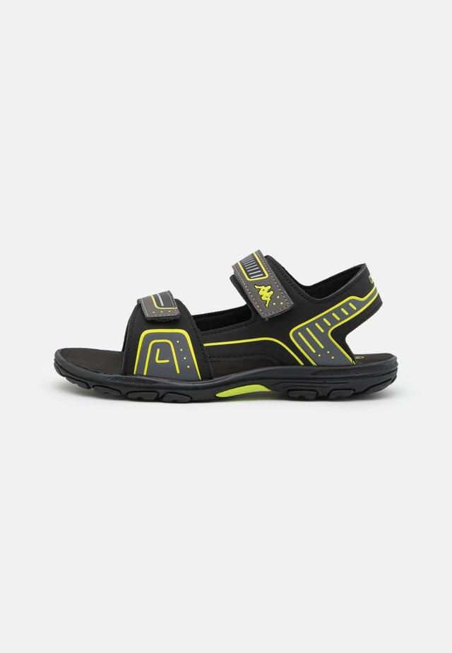 UNISEX - Sandales de randonnée - black/lime