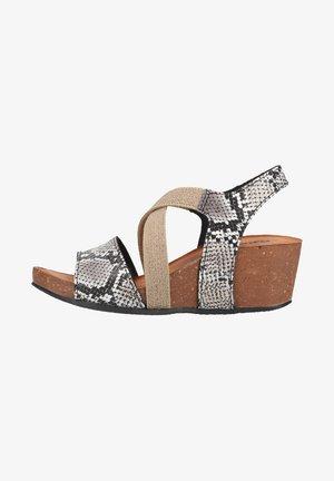 Sandalen met sleehak - roccia