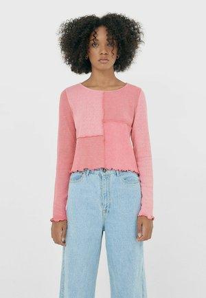 MIT PATCHWORK - T-shirt à manches longues - pink