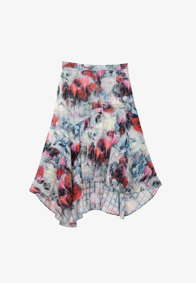 A-line skirt - plum red