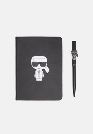 IKONIK METALLIC NOTEBOOK SET - Pozostałe - black