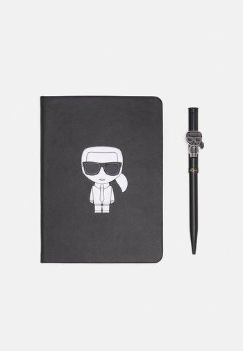 IKONIK METALLIC NOTEBOOK SET - Other accessories - black