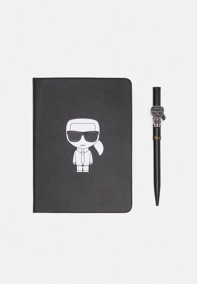 IKONIK METALLIC NOTEBOOK SET - Otros accesorios - black