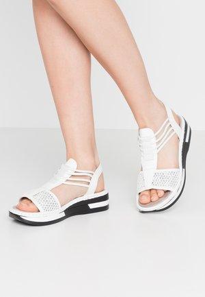 Platform sandals - weiß/silber