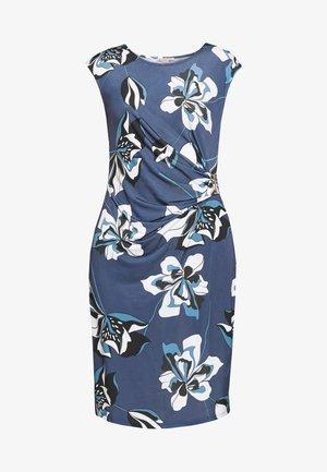 Shift dress - white/blue