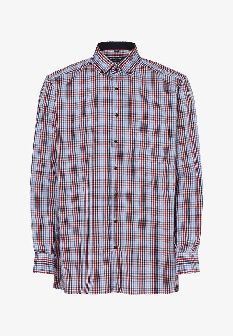 Andrew James - Shirt - rot hellblau