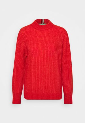 TEXTURED STITCH MOCK - Jumper - oxidized orange