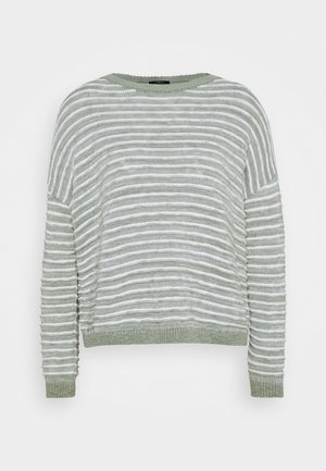 STRIPE - Jumper - seagrass