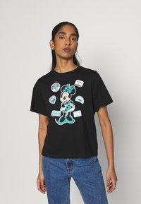 JDY - JDYNINA LIFE  - T-shirt con stampa - black - 0