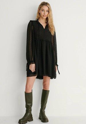 VORDEREM KNOTEN - Jersey dress - black