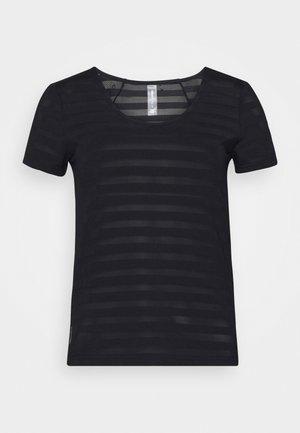 ONPSUE VNECK  TRAINING TEE - Print T-shirt - black