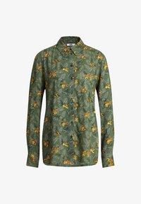 WE Fashion - MET DESSIN - Button-down blouse - dark green - 5