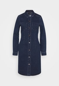 VMGRACE SLIM BUTTON - Denim dress - dark blue denim