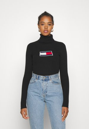 FLAG ROLL NECK - Jumper - black