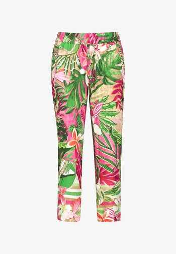 Trousers - pink/grün