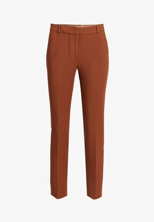 SLIM FIT PANTALON - Trousers - cognac