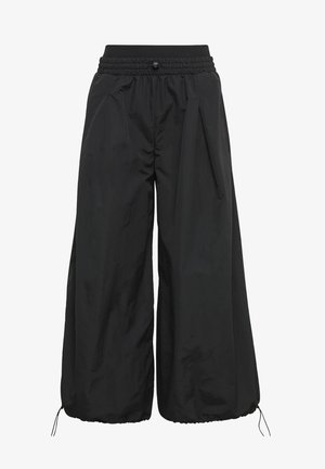WIDE LEG WOVEN TRACKSUIT BOTTOMS - Trainingsbroek - black