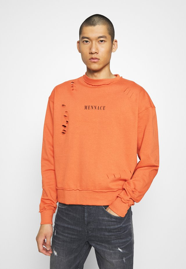 DISTRESSED  - Sweatshirt - orange