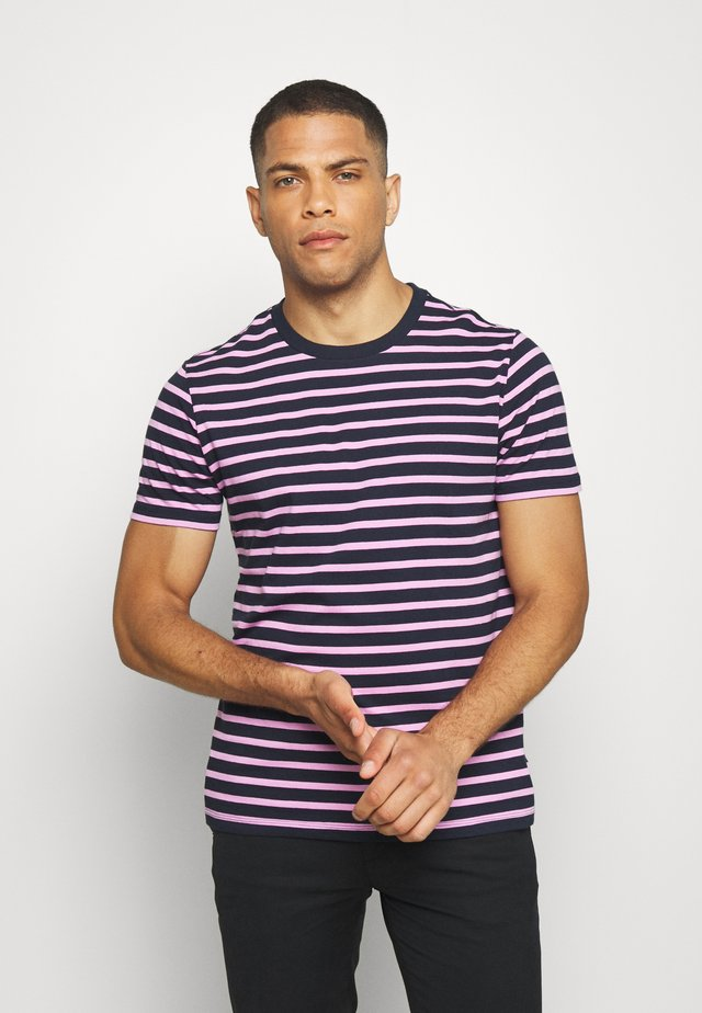 CLASSIC - T-shirt z nadrukiem - navy/pink