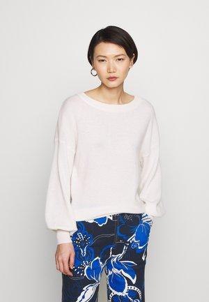 BALLOON SLEEVE - Sweter - white