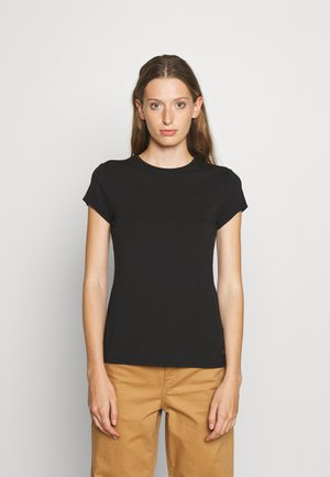 CALMIN TEE - Jednoduché triko - black