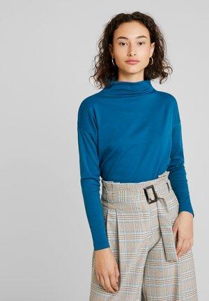 KAOBA HIGH NECK - Long sleeved top - moroccan blue