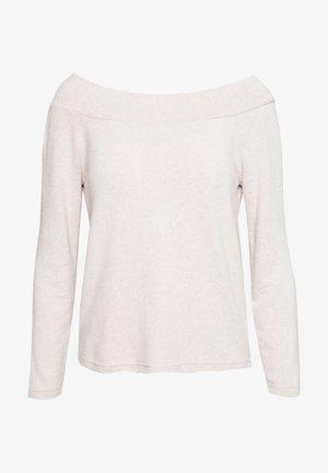 ONLMAYE OFF - Jersey de punto - hazelnut/white