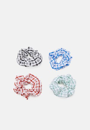 PCAKIT SCRUNCHIE 4 PACK - Hair styling accessory - black/multi