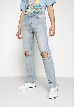 PURRAL DISTRESSED ANKLE - Straight leg jeans - light blue