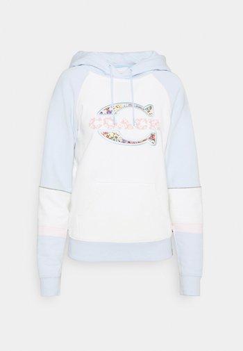 ATHLETIC HOODIE - Sweatshirt - white/blue