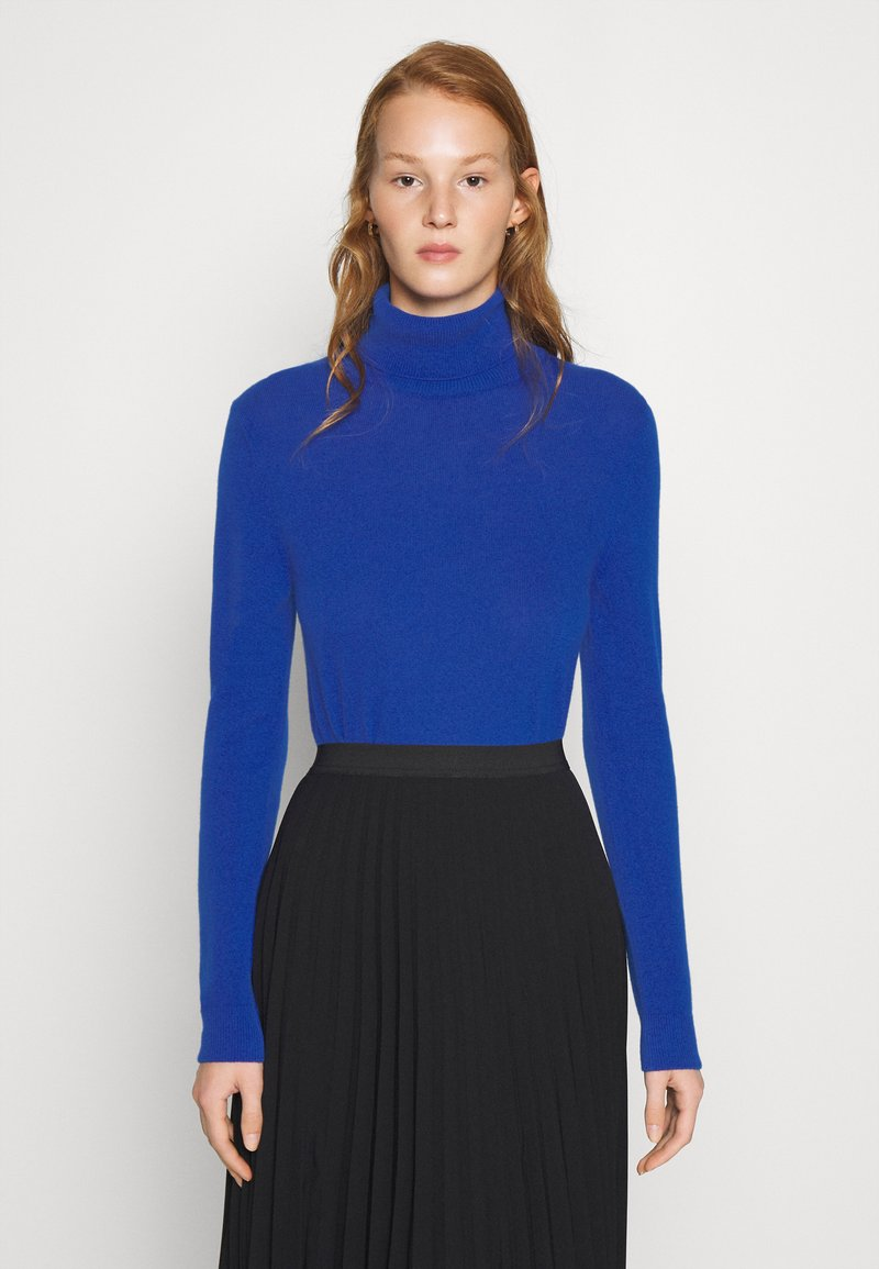 Benetton - TURTLE NECK - Strickpullover - blue