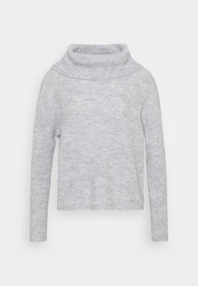 OVERSIZED ROLL NECK  - Trui - mottled light grey