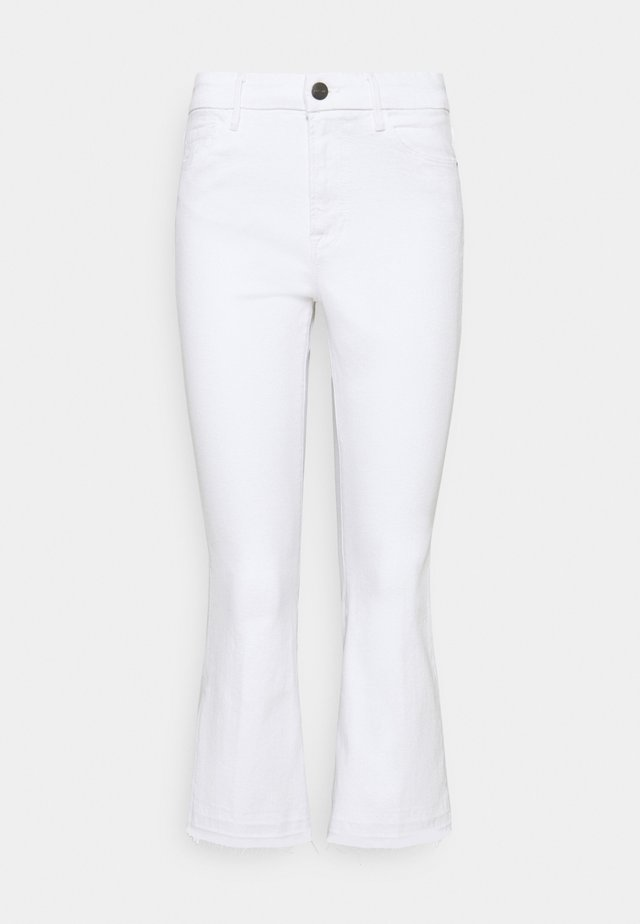 LE PIXIE CROP MINI BOOT  - Džíny Bootcut - blanc