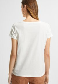 comma casual identity - MIT STATEMENT-PRINT - Print T-shirt - white pure print - 1