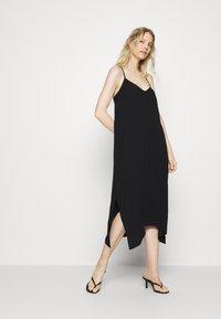 GAP - MIDI HANKY DRESS - Day dress - true black - 0