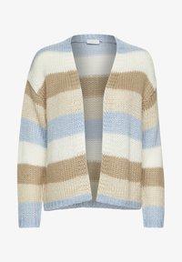 Kaffe - Cardigan - chambray blue beige stripe - 4