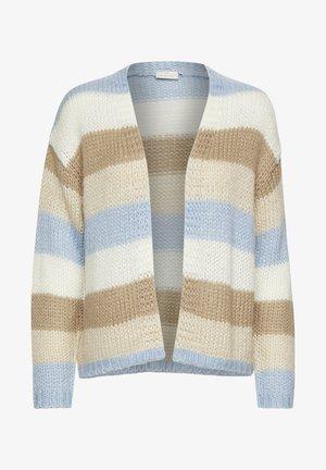 Vest - chambray blue beige stripe
