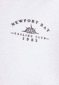Newport Bay Sailing Club - PANEL HOODIE - Sweatshirt - burgundy/white - 7