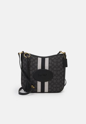 NAW SIGNATURE WITH BRANDING CHAISE CROSSBODY - Across body bag - graphite black