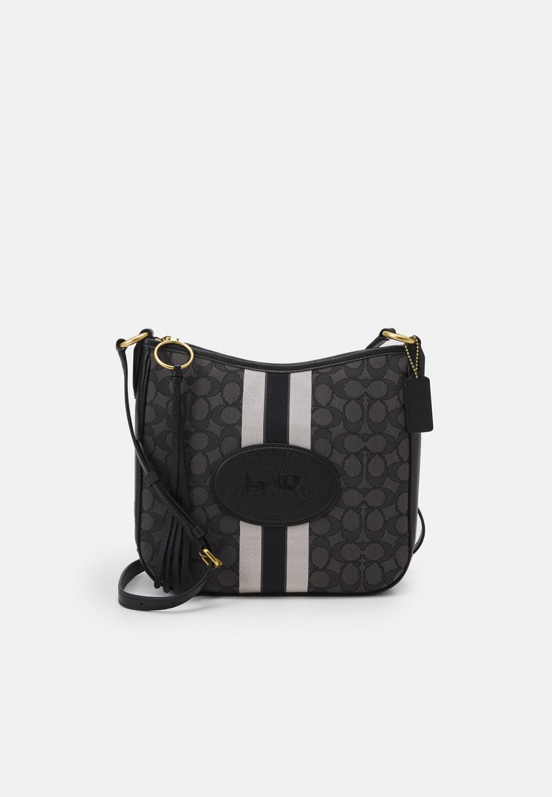Coach - NAW SIGNATURE WITH BRANDING CHAISE CROSSBODY - Across body bag - graphite black