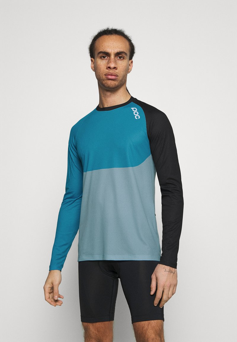 POC - PURE  - Langarmshirt - uranium black/basalt blue